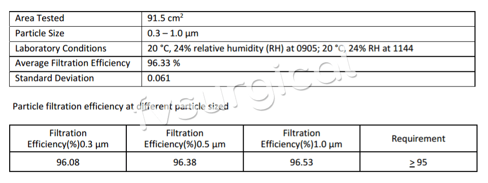 Nano Textile Mask PFE Report